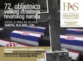 Groblje mira na Bilima: 72. obljetnice velikog stradanja hrvatskog naroda